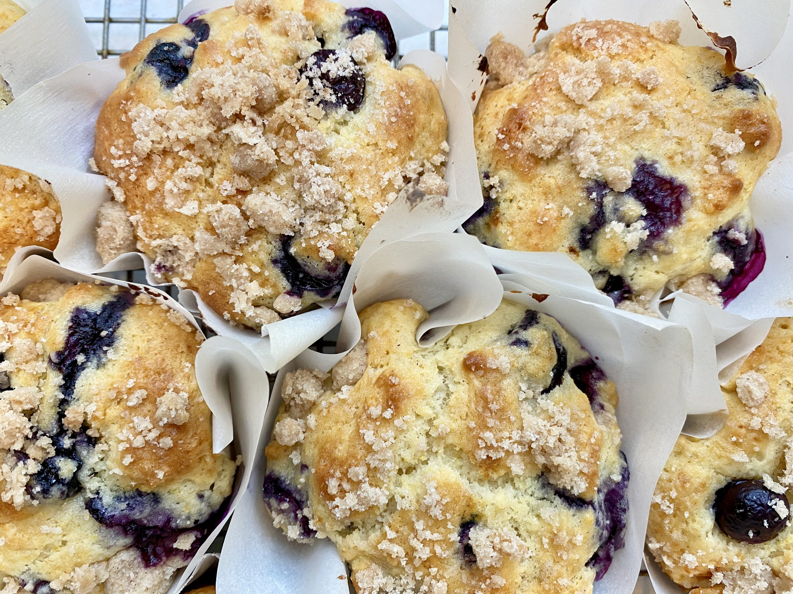 blueberry lemon muffins with streusel topping  how did
